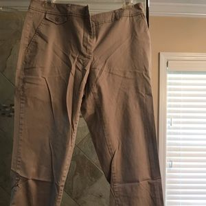 Grey crop pants